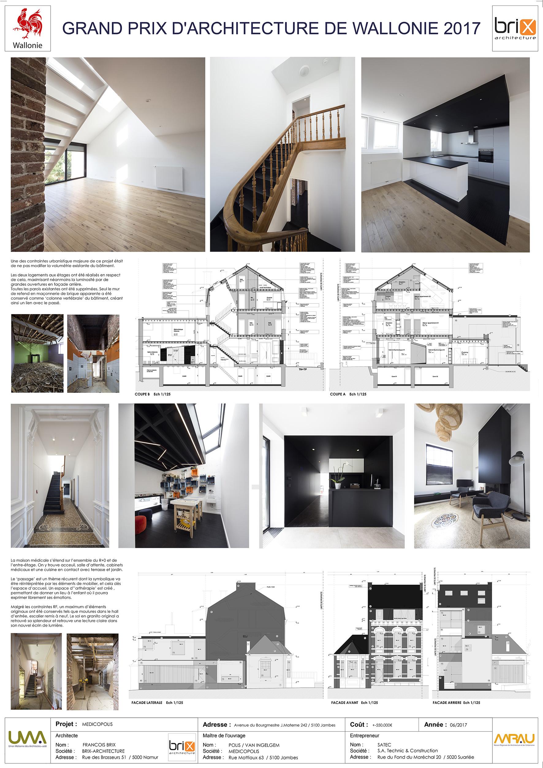 Grand Prix D Architecture De Wallonie 2017